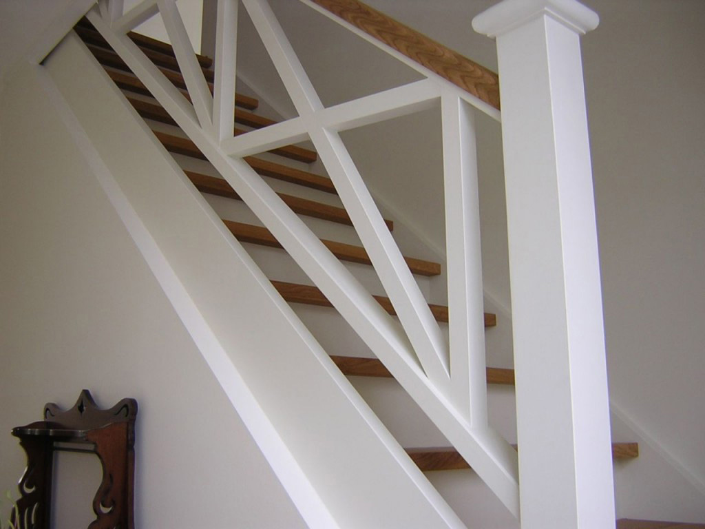 Cottage trap in beuk 2de k met balustrade in x vorm 1 imabru - Balustrade trap ...